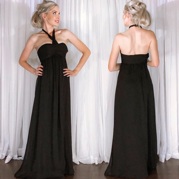 d3598aaedd84 White House Black Market Dresses | Black Chiffon Empire Waist ...